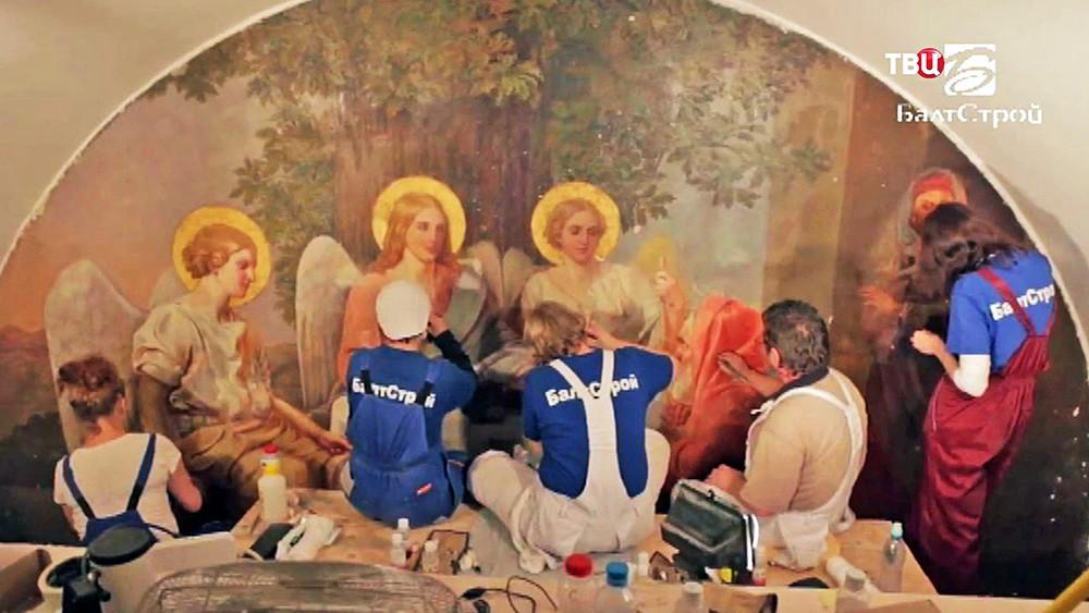 """Компания """"Балтстрой"""" проводит реставрацию в Кремле"""