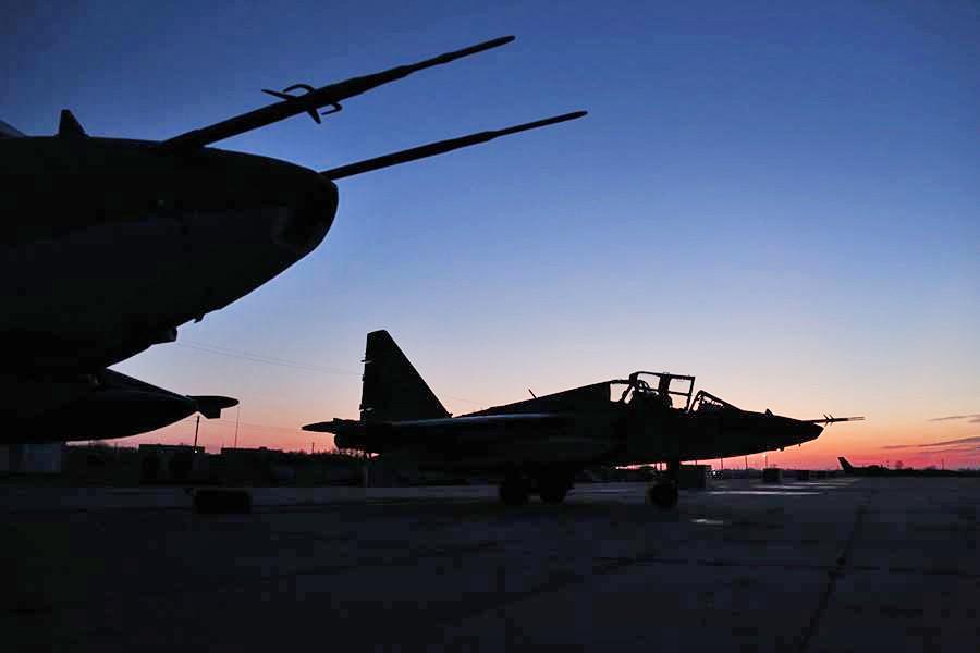 Истребители авиационной группировки ВКС России