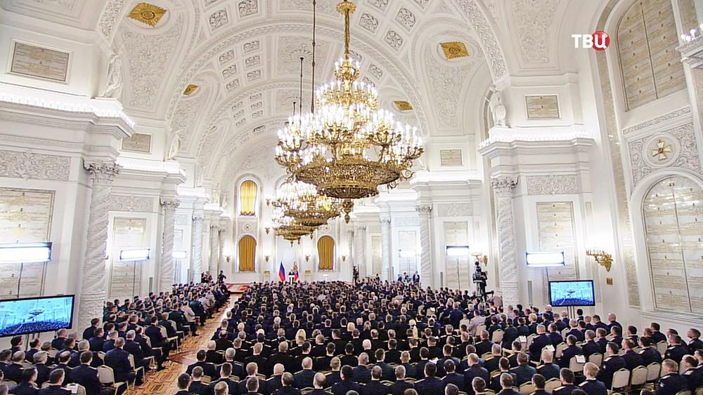Военнослужащие Вооружённых Сил России в Кремле