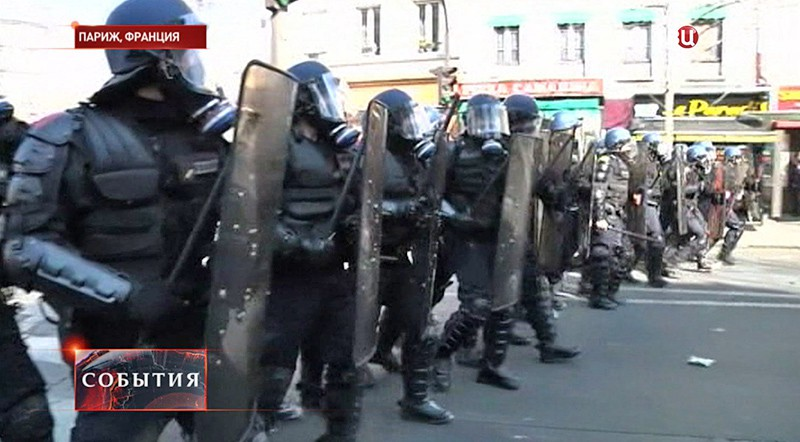 Митинг студентов во Франции