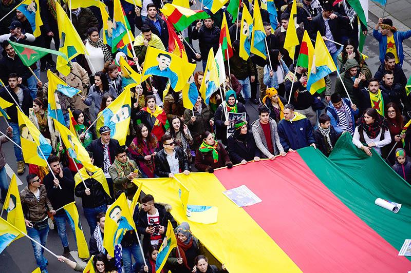 Акция протеста курдов