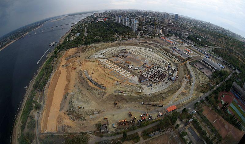 Строительство стадиона к ЧМ-2018 в Волгограде