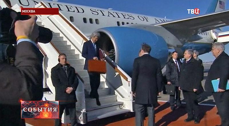 Джон Керри прибыл в Москву