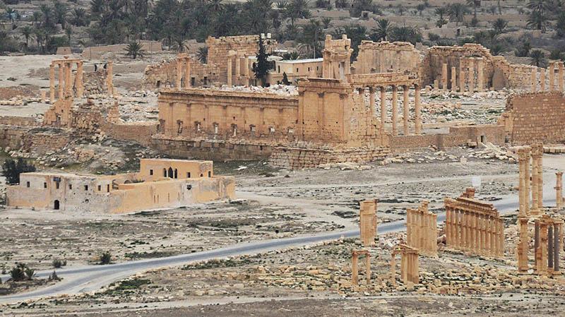 Освобожденная сирийской армией древняя часть Пальмиры