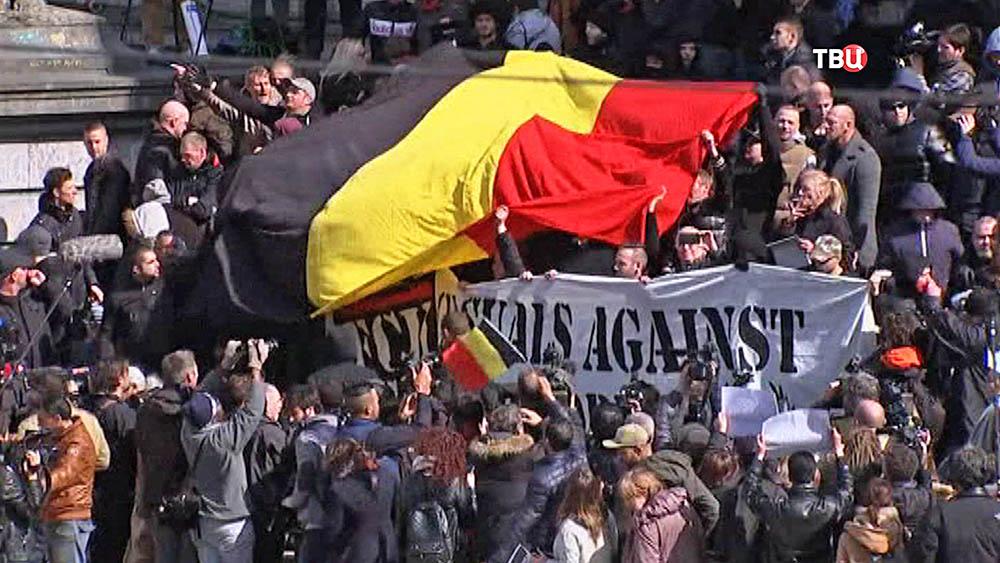 Митинг футбольных фанатов Германии