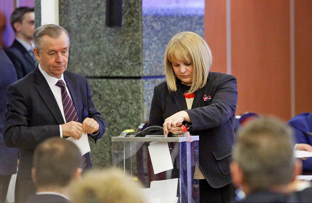 Элла Памфилова на заседании нового состава Центральной избирательной комиссии РФ