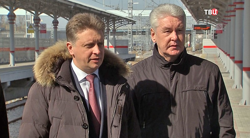 Сергей Собянин на МКЖД