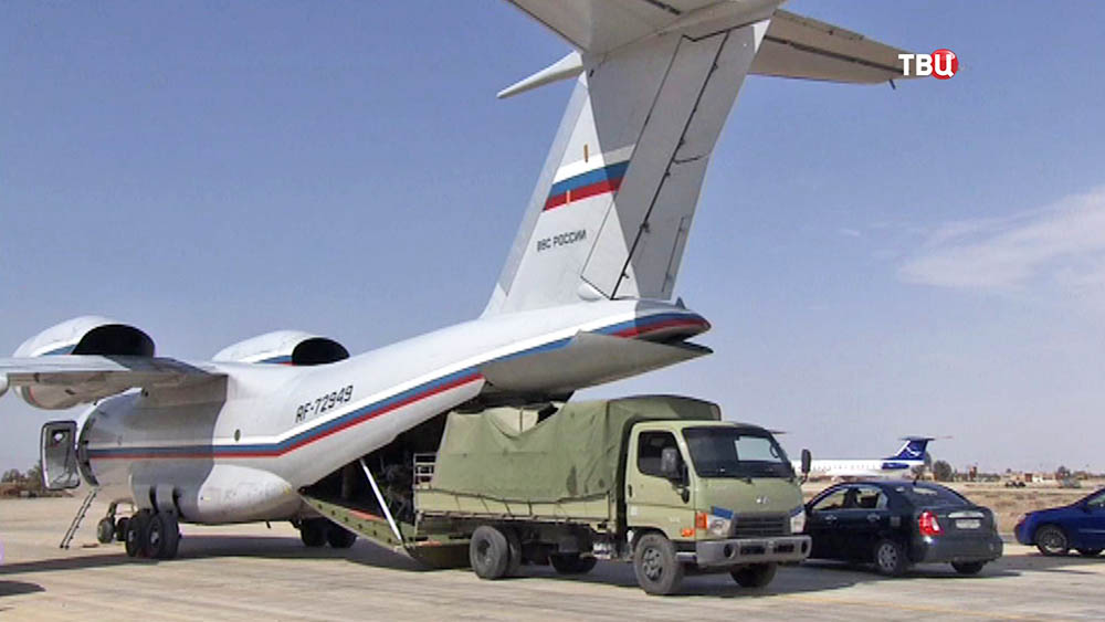Самолет ВВС России доставил гуманитарную помощь в Сирию