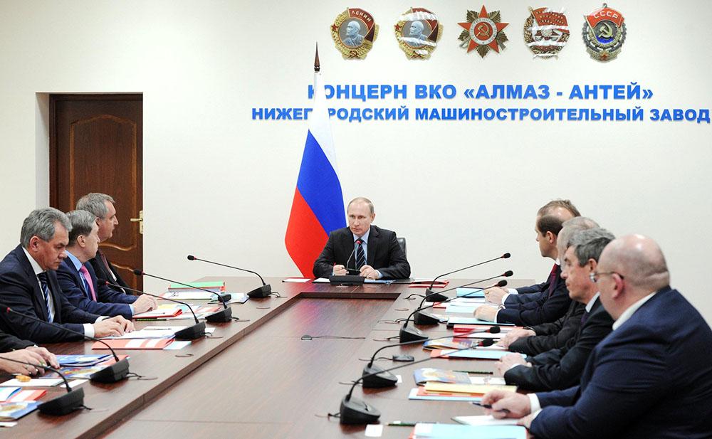 Владимир Путин на заседании Комиссии по вопросам военно-технического сотрудничества Российской Федерации с иностранными государствами