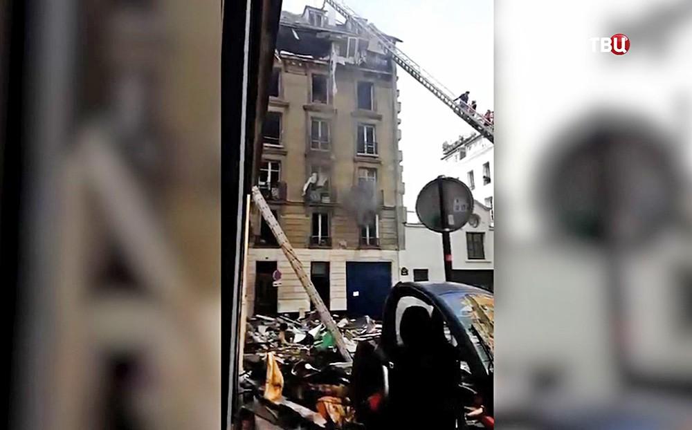 Последствия взрыва газа в Париже