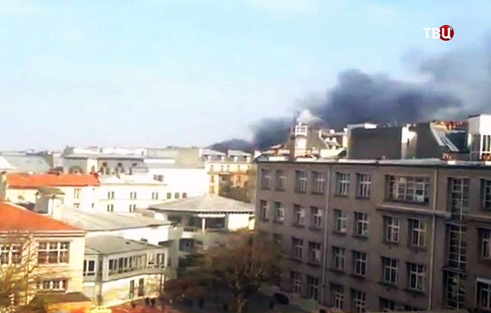 Пожар в центре Парижа