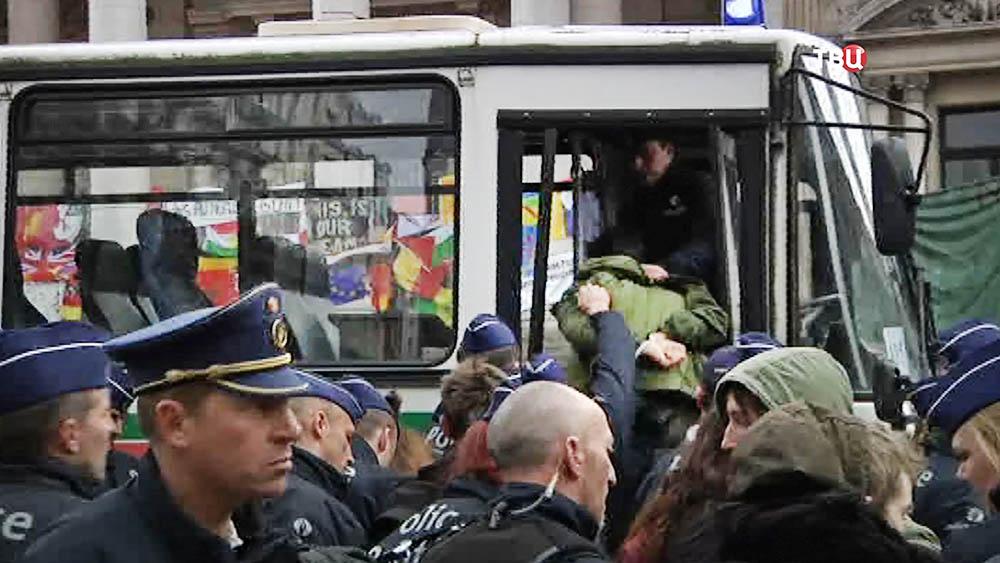 Полиция Брюсселя производит задержание