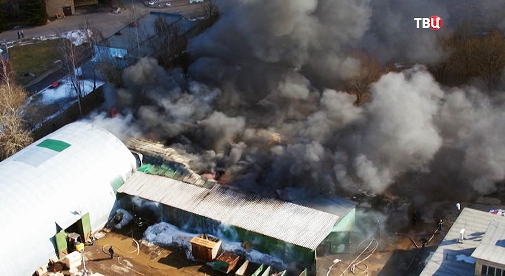 Возгорание ангаров на территории института рентгенорадиологии