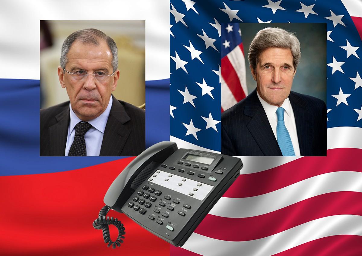 Телефонные переговоры Сергея Лаврова с Джоном Керри
