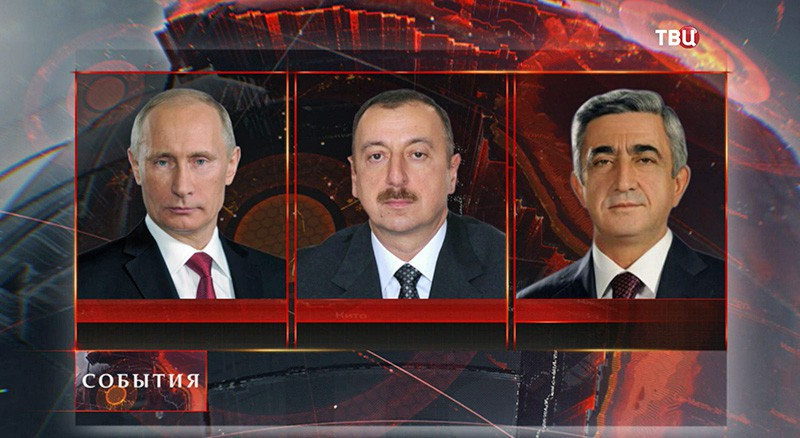 Владимир Путин, Ильхам Алиев и Серж Саргсян