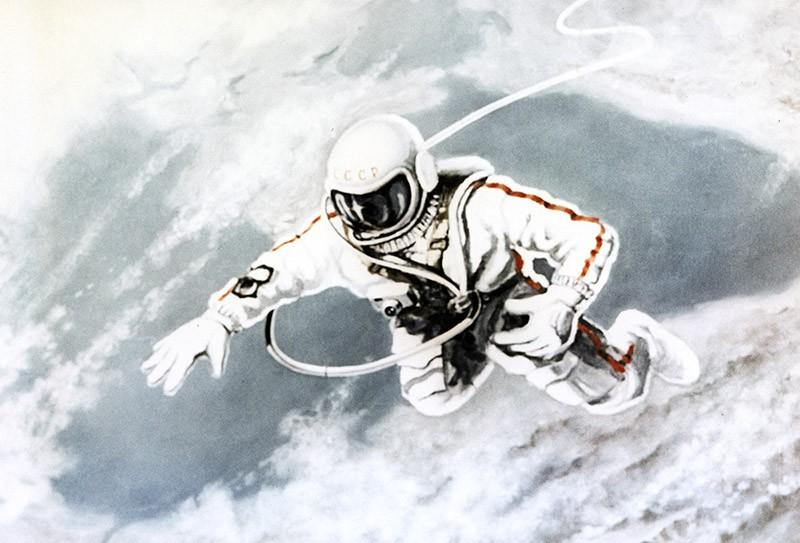 """Картина """"Над черным морем"""" летчика-космонавта Алексея Архиповича Леонова"""