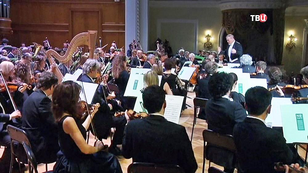 Объединенный оркестр Мюнхенской филармонии и Мариинского театра под управлением Валерия Гергиева в Большом зале Консерватории