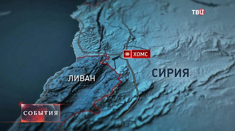 Карта Хомс