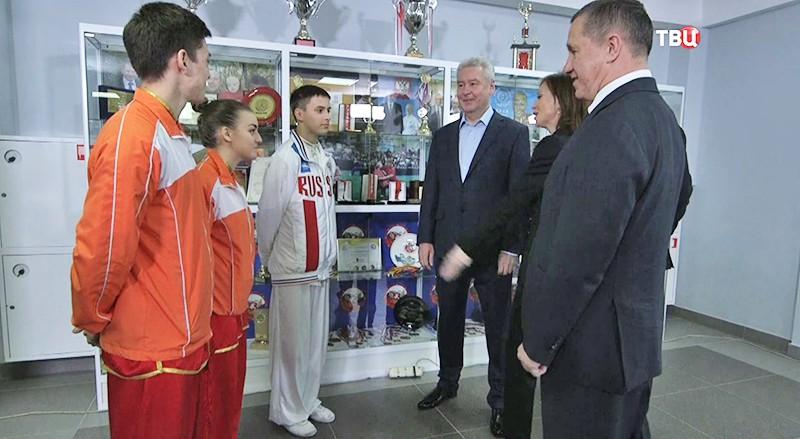 Мэр Москвы Сергей Собянин на открытии в спорткомплексе для занятий ушу