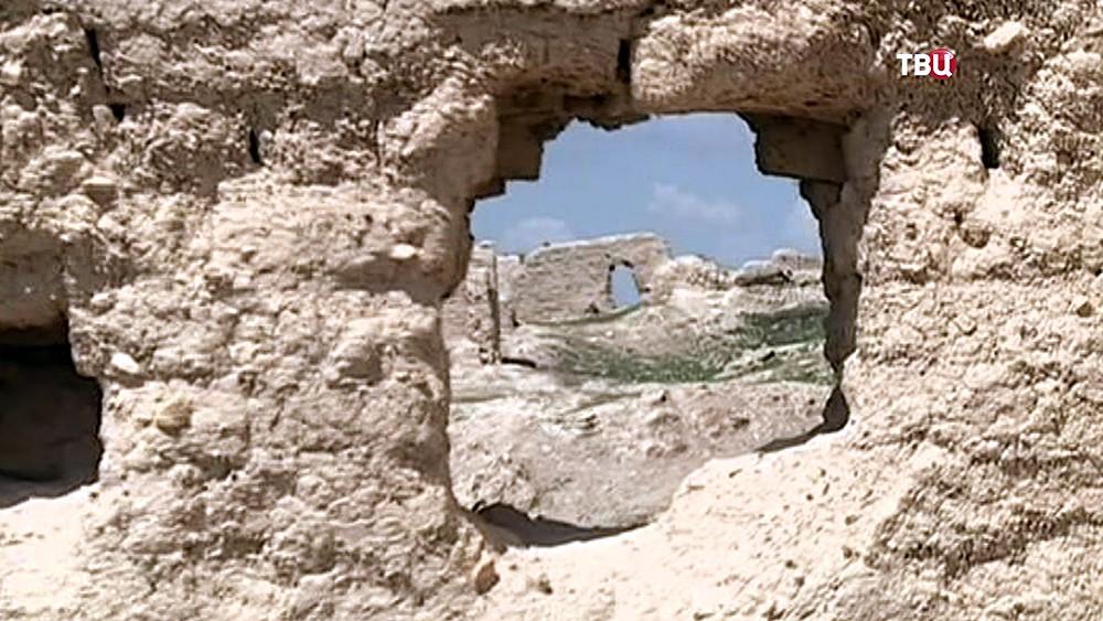 Развалины древнего города Катана в Сирии