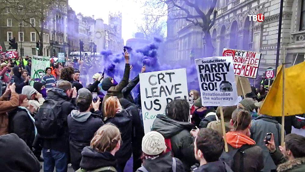 Митинг за отставку Кэмерона в Лондоне
