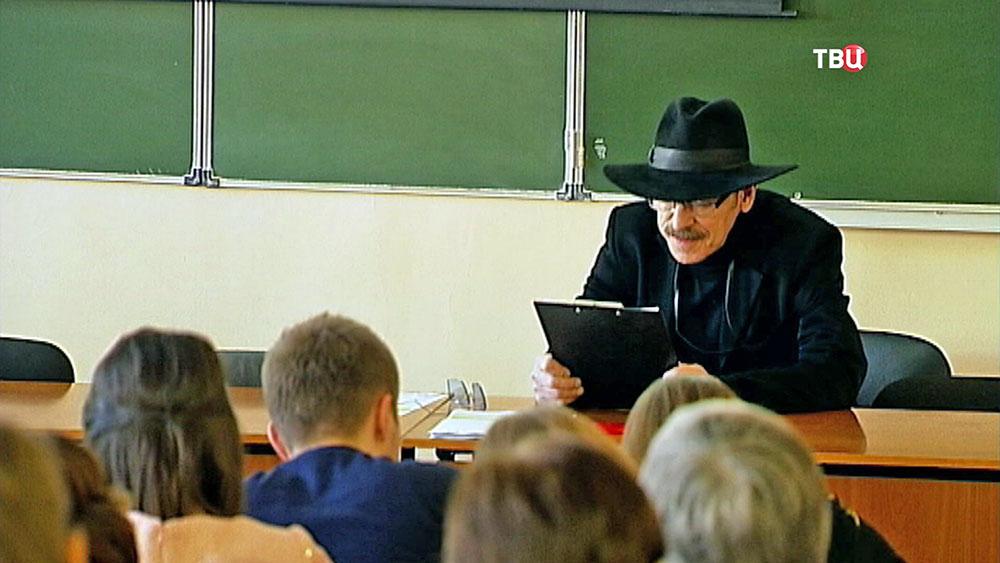 """Михаил Боярский  на """"Тотальном диктанте"""""""