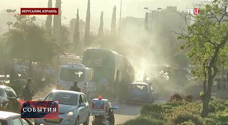 Взрыв в автобусе в Иерусалиме