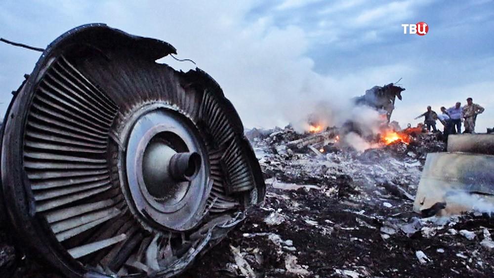 Место крушения малайзийского Boeing 777 Malaysia Airlines (рейс MH17) на Украине