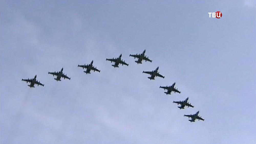 Репетиция воздушной части парада ко Дню Победы