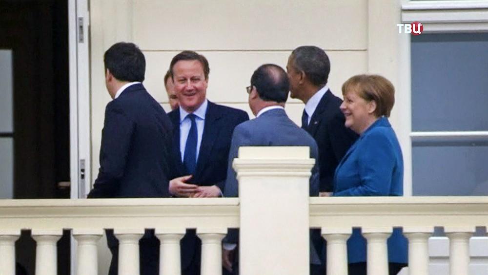 Дэвид Кэмерон, Барак Обама, Ангела Меркель, Франсуа Олланд и Маттео Ренци