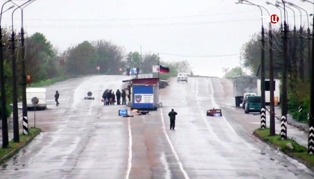 КПП на границе ДНР