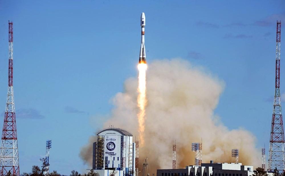 """Запуск ракеты-носителя """"Союз"""" с космодрома Восточный"""