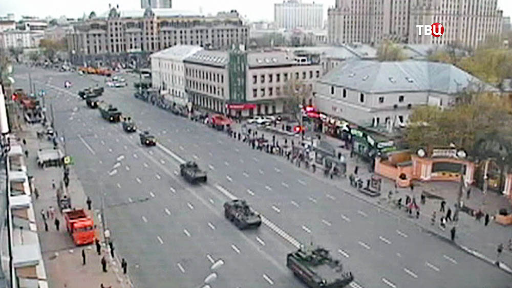 Военная техника на репетиции парада в Москве