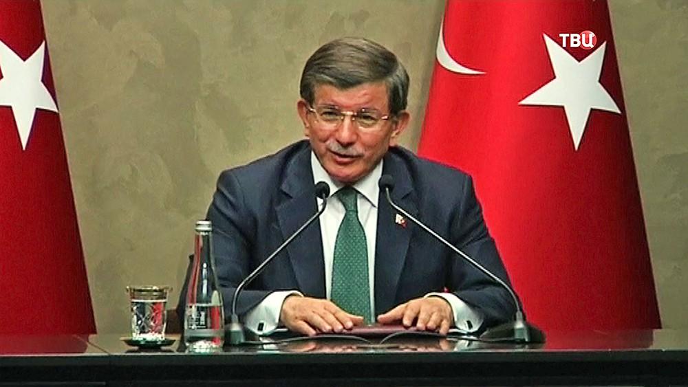 Премьер-министр Турции Ахмет Давутоглу