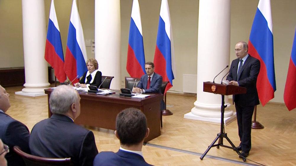Владимир Путин принял участие во встрече с членами Совета законодателей при Федеральном Собрании Российской Федерации