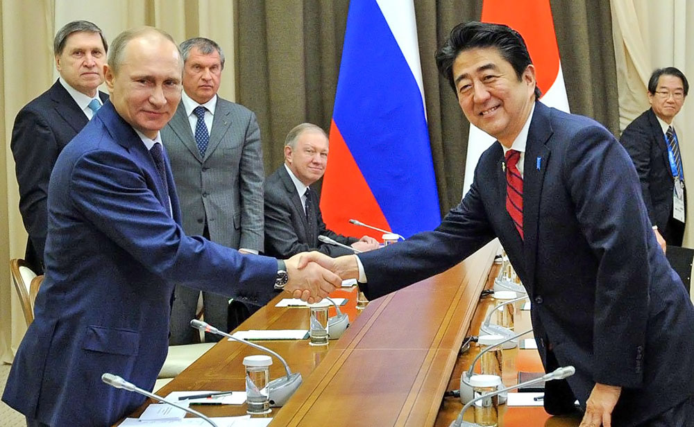 Картинки по запросу Премьер-министр Японии Синдзо Абэ и путин фото