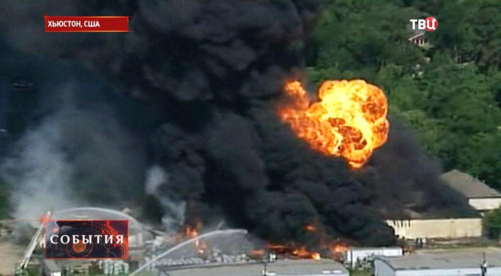 Пожар на складе с боеприпасами в США