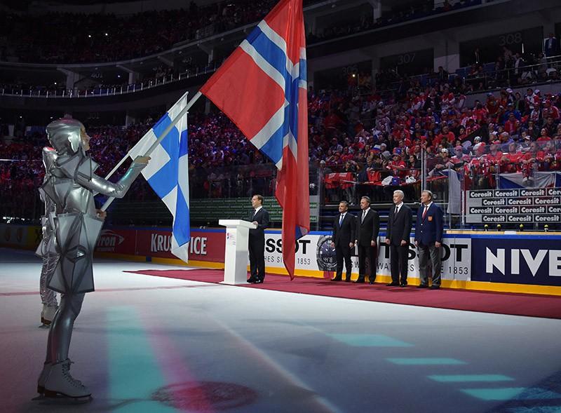 Церемония открытия чемпионата мира по хоккею 2016 в Москве