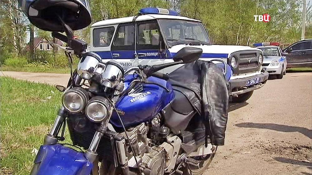 На месте убийства байкеров в Московской области