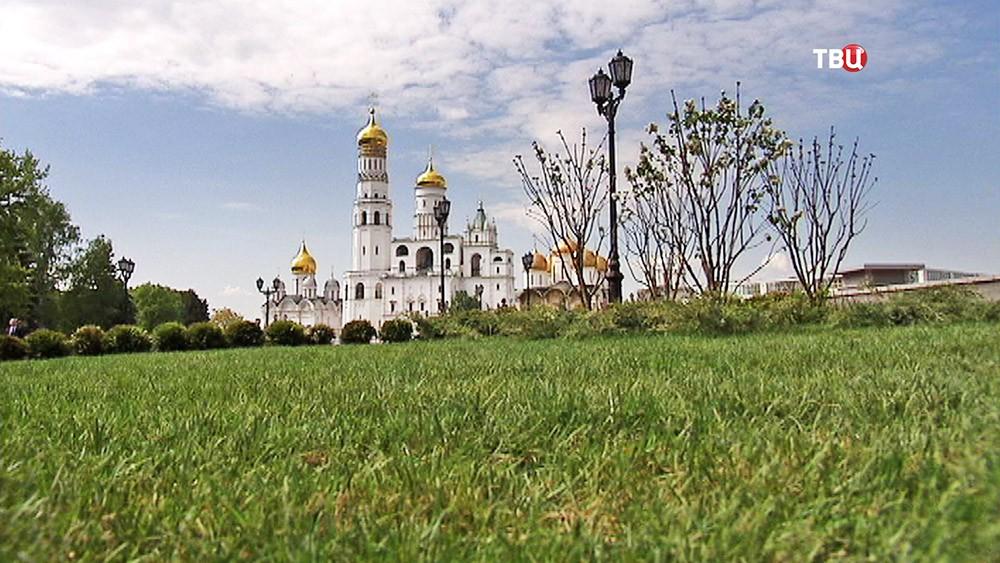 Парк в Московском Кремле