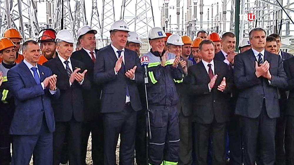 Церемония включения энергомоста в Крыму