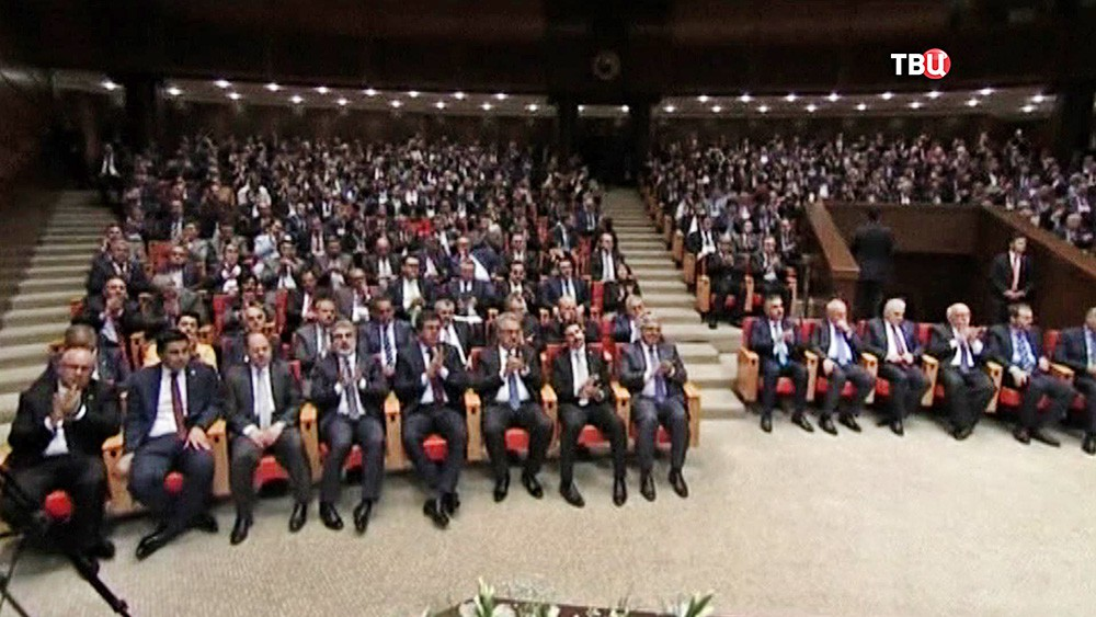 Заседание парламента Турции