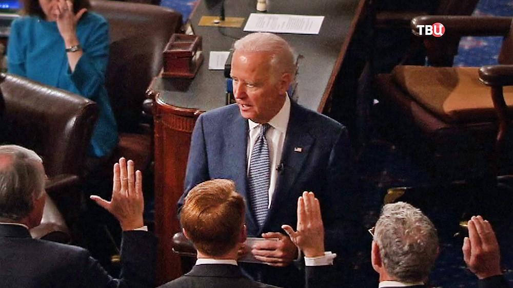 Вице-президент США Джо Байден в Конгрессе США
