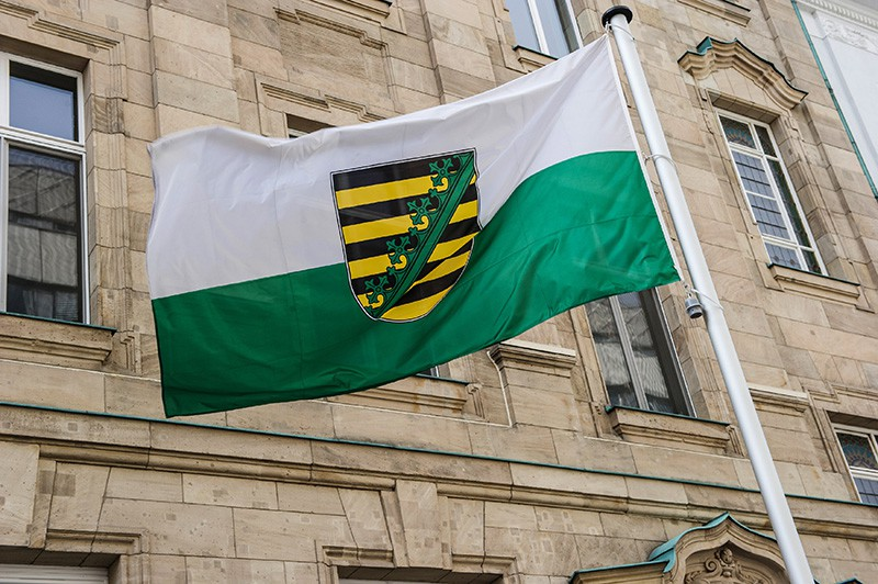 Флаг Саксонии