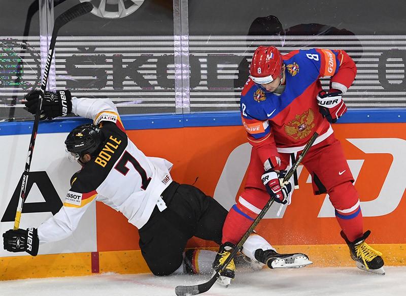 Чемпионат мира по хоккею. Матч Россия - Германия