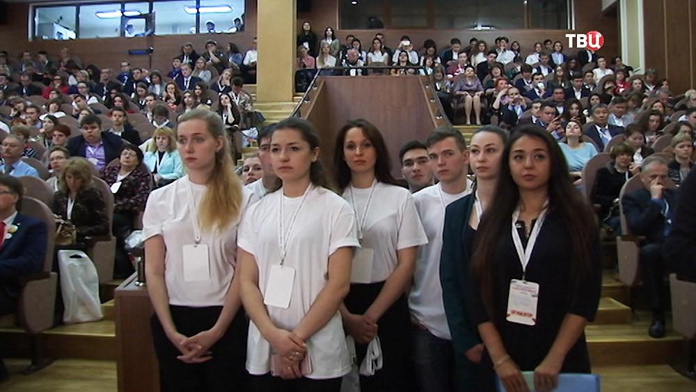 """Съезд """"Российского движения школьников"""" в Москве"""