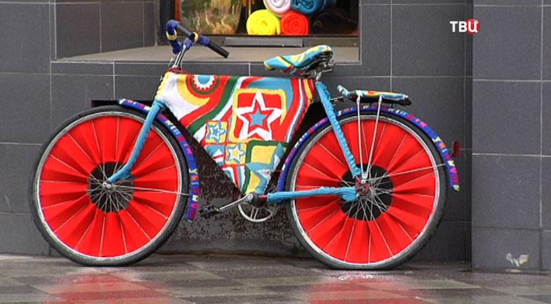 Вязанный велосипед