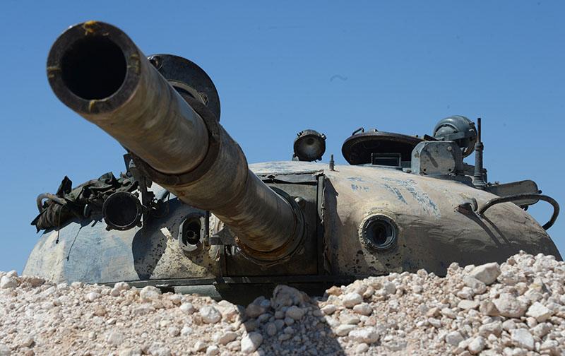 Война в Сирии. Танк Т-55 ВС Сирии