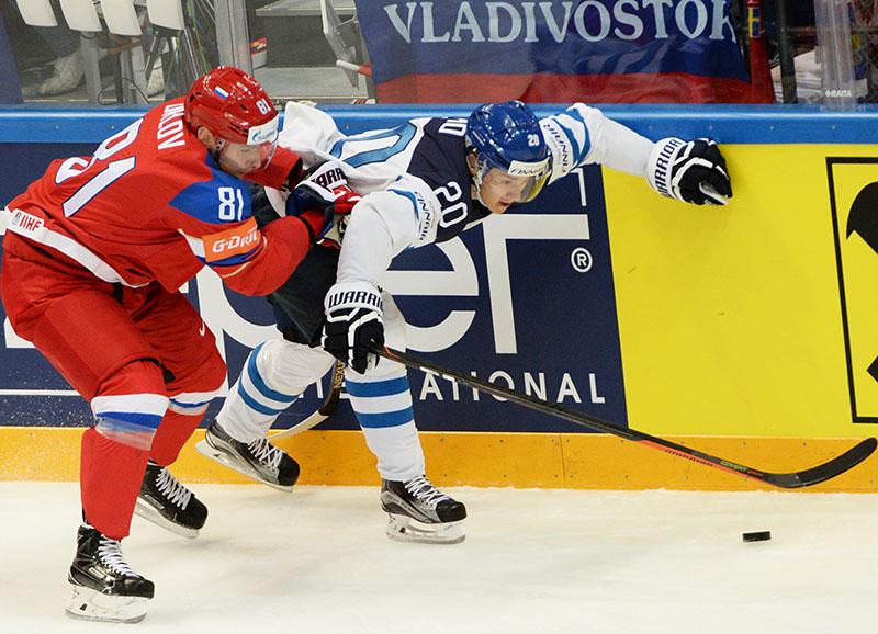 Чемпионат мира по хоккею. Матч Финляндия - Россия