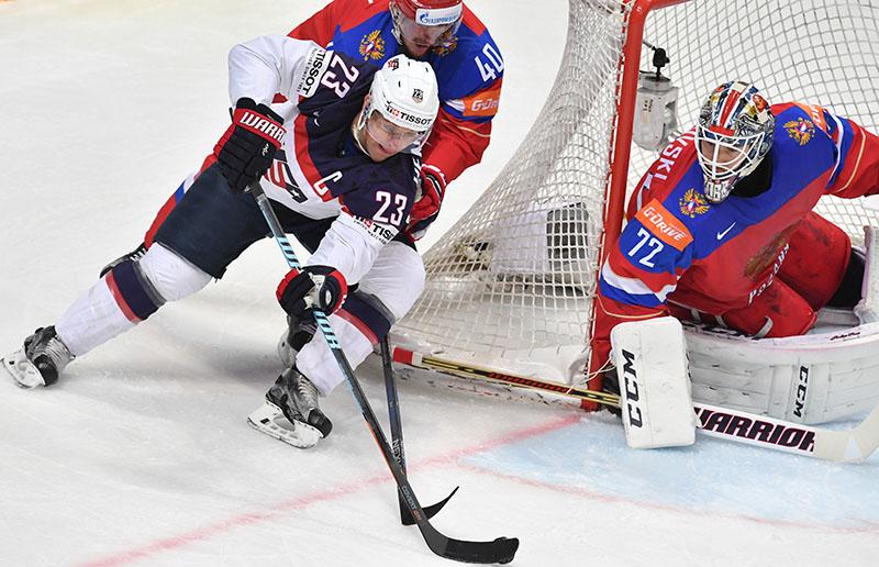 Чемпионат мира по хоккею. Матч Россия - США